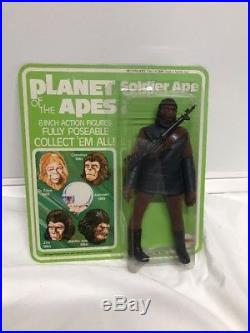 Vintage PLANET OF THE APES Soldier Ape 1967 MEGO MINT ON CARD RARE