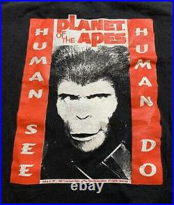 Vintage Planet Of The Apes Human See Human Do T Shirt XL Promo Movie Murina