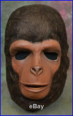 Vintage Planet of the Apes Cornelius Mask Foam Filled Monster Movie Don Post