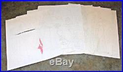 Vintage Planet of the Apes POTA 9 Color by Number Picture Sheets ColorVue Hasbro