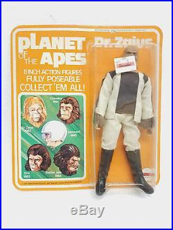Vintage Planet of the Apes Pota Mego action figure Dr. Zaius sealed unpunched ca