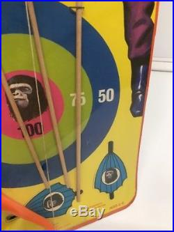 Vintage Scarce 1967 Hg Playset Planet Of The Apes Archery Set