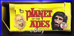 Vintage empty 1968 Topps PLANET OF THE APES display box good condition only