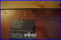 Vntg Movie Poster Planet Of The Apes Charlton Heston Arthur Jacobs 1968-1973 USA