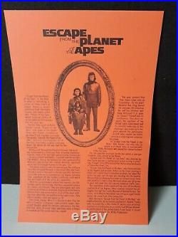 Vtg 1971 Escape From The Planet Of The Apes press release kit with 13 B&W photos