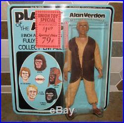 Vtg 70's MEGO Planet of the Apes Alan Verdon 8 Action Figure NEW on Sealed Card