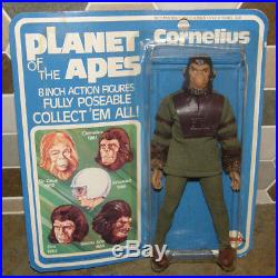 Vtg 70's MEGO Planet of the Apes Cornelius 8 Action Figure NEW on Sealed Card