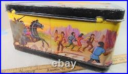 Vtg 70s 1974 PLANET OF THE APES Metal Aladdin Lunch Box with Thermos Lunchbox