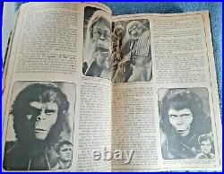 Vtg Lot Curtis 1-11 Planet of the Apes Magazine Nice 1974 1975 Consecutive