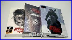 WAR FOR THE PLANET OF THE APES 2D/3D Blu-ray STEELBOOK SET FILMARENAALL 3 #039