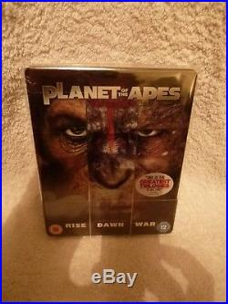 WAR FOR THE PLANET OF THE APES Bluray Steelbook. Ultimate Modified Bundle