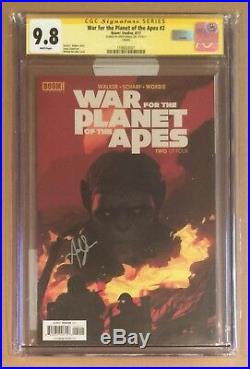 War For The Planet Of The Apes #2 Cgc Ss 9.8 Signed Andy Serkis Cesar 1