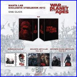 War For The Planet Of The Apes Manta Lab One-Click Leather Boxset Steelbook #111